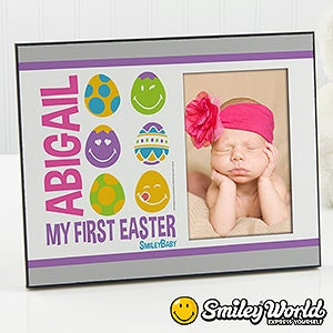 Personalized Baby's First Easter Picture Frames - Smiley Face - 14249