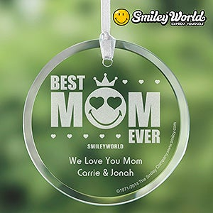 Personalized Mother's Suncatchers - Smiley Face Best Mom Ever - 14253