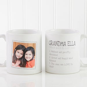 Personalized Photo Coffee Mugs - Definition Of Grandma - 14254