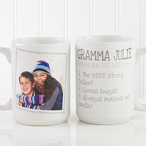 Large personalized photo coffee mugs definition of grandma personalized photo coffee mugs definition of grandma 14254 negle