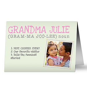 Personalized Greeting Cards - Definition of Grandma - 14256