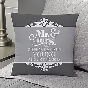 Personalized Throw Pillows - Happy Couple - 14259