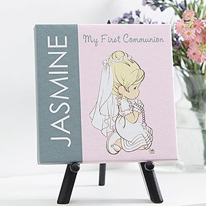 Personalized First Communion Canvas Print - Precious Moments - 14262