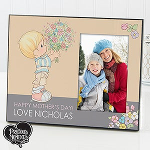 Personalized Mother's Day Picture Frame - Precious Moments Flower Bouquet - 14270