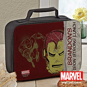 Personalized Comic Superhero Lunch Box - Spiderman, Iron Man, Hulk - 14280