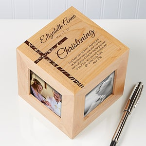 Personalized Photo Cubes - Christening, Baptism or Dedication - 14283