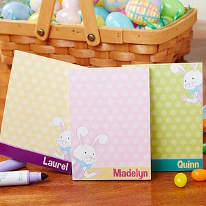 Personalized Easter Notepads - Easter Bunny - 14284