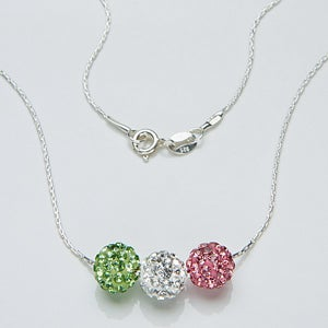 Personalized Crystal Birthstone Necklace - 14293D