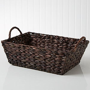 Mahogany Wicker Storage Basket - 14297