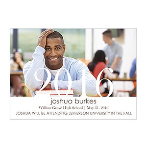 Personalized Photo Graduation Announcements - Proud Graduate - 14299