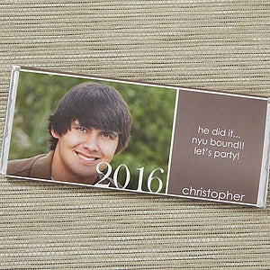 Personalized Graduation Party Favors - Photo Candy Bar Wrappers - 14301