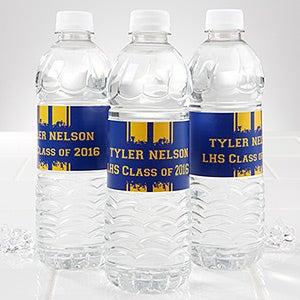 Personalized Graduation Water Bottle Label - School Spirit! - 14303