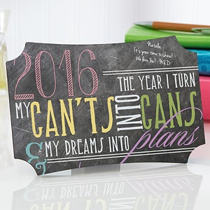 Personalized Inspirational Plaques - My Year - 14308