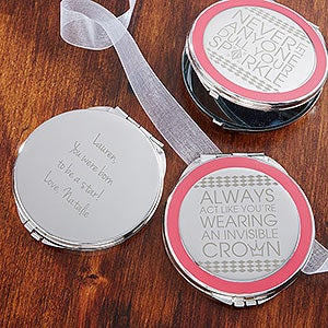 Personalized Compact Mirror - Daily Wit - 14309