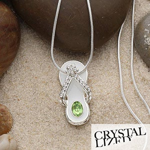 Personalized Swarovski Birthstone Flip Flop Necklace or Pendant - 1431D