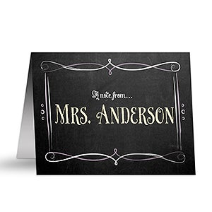 Personalized Teacher Note Cards - Chalkboard - 14320