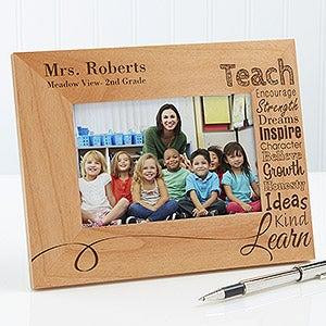 Personalized Teacher Picture Frames - Our Teacher - 4x6 - Teacher ...