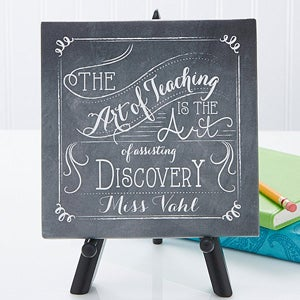 personalized teacher tabletop canvas print teacher quotes 5 1 2
