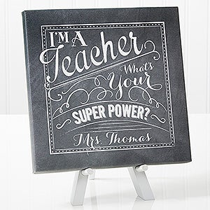 Personalized Desktop Canvas Print - Teacher Quotes - 14332