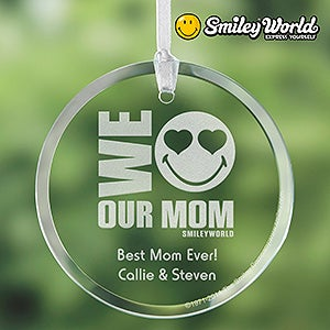 Personalized Suncatchers for Mom - Smiley Face - 14339