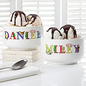 Personalized Kids Snack Bowls - Alphabet Animals - 14344