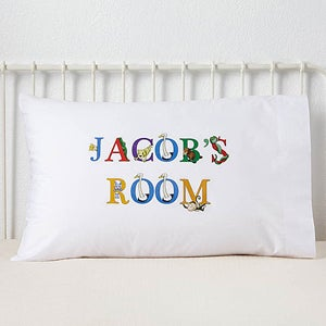 Personalized Kids Pillowcases - Alphabet Animals - 14348