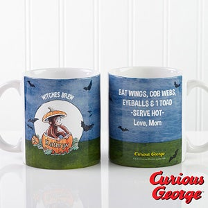 Personalization Mall Personalized Coffee Mugs - Curious George Halloween Pumpkin at Sears.com
