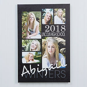Graduation Portrait Photo Collage Canvas Prints - 14363