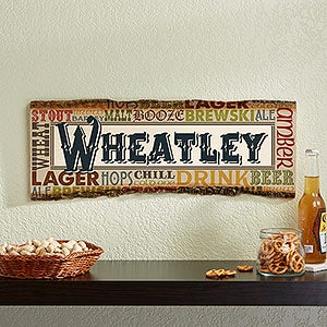 Alehouse Personalized Basswood Plank