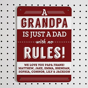 Personalized Street Signs - Grandpa's Rules - 14372