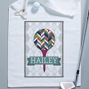 Personalized Golf Towels - Sassy Lady - 14385