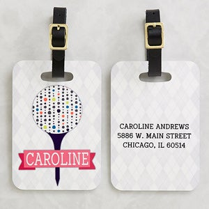 Personalized Golf Bag Tags for Her - Sassy Lady - 14386