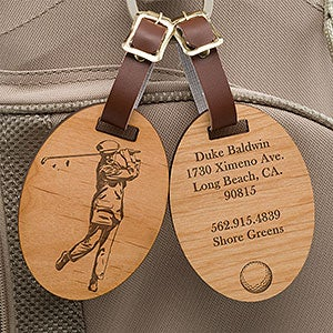 Personalized Golf Bag Tags Vintage Golfer 14389