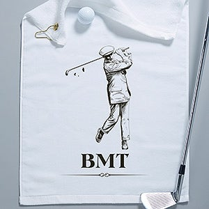Personalized Golf Towels - Vintage Golfer - 14390