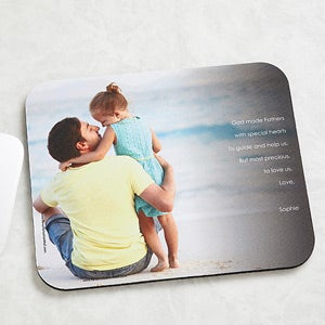 Personalized Photo Mouse Pad for Him - Photo Sentiments  - 14398
