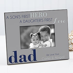 Personalized Dad Picture Frames First Hero First Love