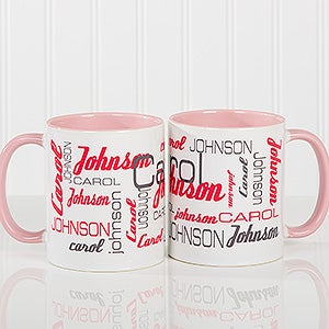Personalized Coffee Mugs - Signature Style For Him - 14425