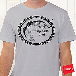 Personalized Fishing Shirts - We're Hooked On - 14439