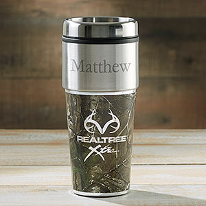 personalized travel mugs realtree camouflage