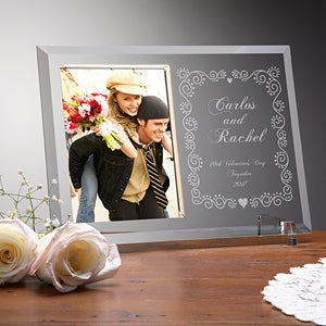 Personalized Glass Photo Frames - Together Forever Design - 1445
