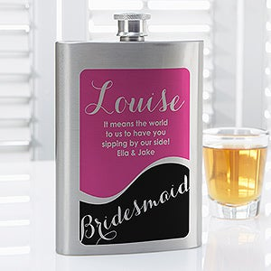 Personalized Bridesmaids Drinking Flask - 14450