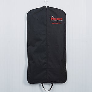 Embroidered Logo Black Garment Bag - 14457