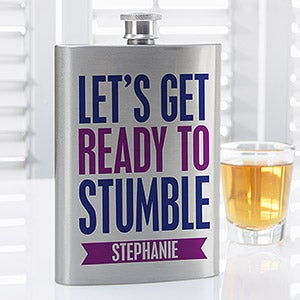 personalized flasks for her funny party quotes