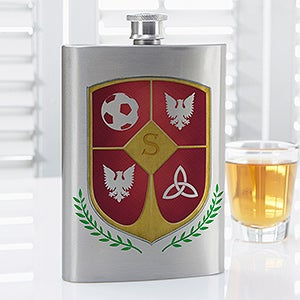 personalized flasks my custom crest initial for him