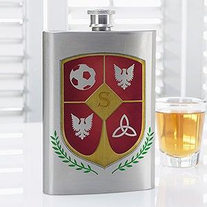 Personalized Flask - My Custom Crest - 14467