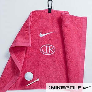 Personalization Mall Personalized Pink Golf Towel for Her - Nike at Sears.com
