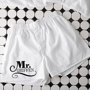 Personalized Wedding Boxer Shorts - Happy Couple - 14482