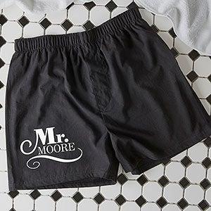 Personalized Wedding Boxer Shorts - Happy Couple - 14482