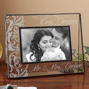 Two Hearts, Two Lives, One Dream Personalized Frame