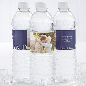 Personalized Water Bottle Labels With Photo Perfect For A Wedding Or Bridal Shower Free Personalization Fast Shipping
